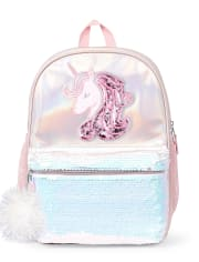 Mochila de unicornio con lentejuelas y Shakey para niñas