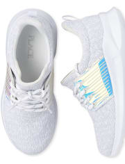 Girls Uniform Holographic Running Sneakers