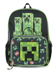 Boys Minecraft Backpack And Lunch Box Set