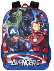 Conjunto de mochila y lonchera Avengers para niños
