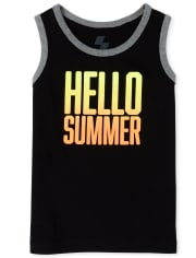 Baby And Toddler Boys Mix And Match Graphic Tank Top
