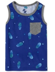 Baby And Toddler Boys Mix And Match Pineapple Pocket Tank Top