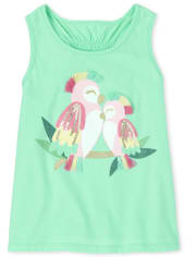 Baby And Toddler Girls Glitter Applique Racerback Tank Top