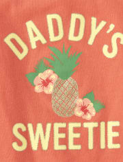 Baby And Toddler Girls Mix And Match Glitter Daddy's Sweetie Tank Top