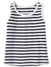 Baby And Toddler Girls Striped Tank Top