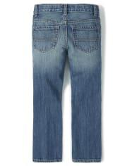 Boys Basic Bootcut Denim Jeans