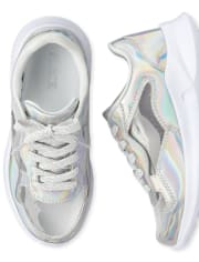 Girls Holographic Running Sneakers