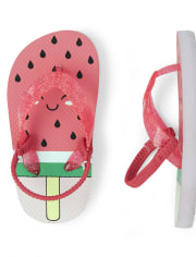 Toddler Girls Glitter Watermelon Flip Flops