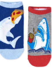 Boys Shark Ankle Socks 6-Pack