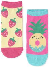 Girls Fruit Ankle Socks 6-Pack