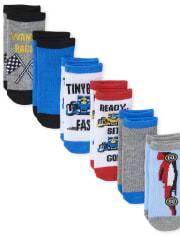 Toddler Boys Racecar Ankle Socks 6-Pack