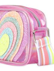 Girls Glitter Heart Bag