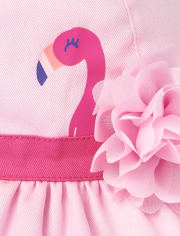 Toddler Girls Flamingo Ruffle Bucket Hat