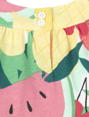 Robe à volants assortis pour bébé et toute-petite fille, maman et moi