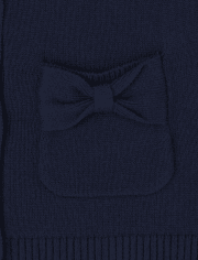 Toddler Girls Uniform Bow Cardigan