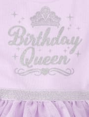 Baby And Toddler Girls Glitter Birthday Queen Tutu Dress