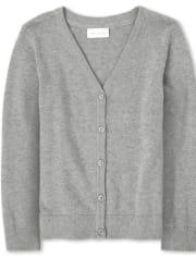 Girls Uniform V Neck Cardigan