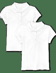 Girls Uniform Pique Polo 2-Pack