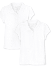 Girls Uniform Soft Jersey Polo 2-Pack