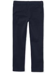 Girls Uniform Skinny Chino Pants 2-Pack