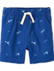 Pantalones cortos tipo jogging con diseño de buzo para bebés y niños pequeños