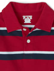 Baby And Toddler Boys Uniform Striped Jersey Polo