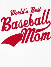 T-shirt graphique de baseball assorti pour femme