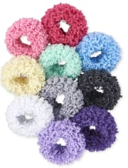 Girls Metallic Scrunchie 10-Pack