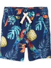 Pantalones cortos tipo jogging con loro para bebés y niños pequeños