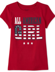 Girls Matching Family All American Graphic Tee