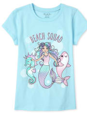 Girls Mermaid Graphic Tee