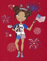 Girls Americana Girl Graphic Tee