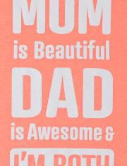Camiseta estampada con estampado de mamá y papá para niñas