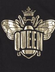 Girls Foil Queen Bee Graphic Tee