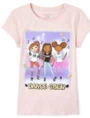Girls Glitter Dance Crew Graphic Tee