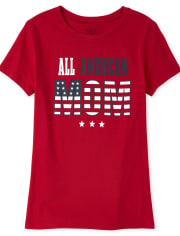 Womens Matching Family Americana All American Graphic Tee