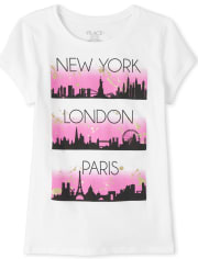 Girls Glitter New York Graphic Tee