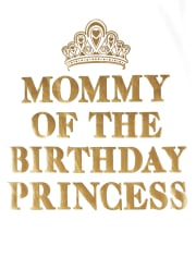 Womens Mommy And Me Foil Birthday Princess Matching Graphic Tee