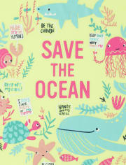 Girls Save The Ocean Graphic Tee