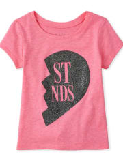 Baby And Toddler Girls Glitter Best Friends Graphic Tee