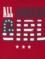 Baby And Toddler Girls Matching Family Americana All American Graphic Tee