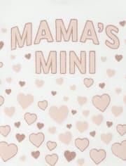 Baby And Toddler Girls Glitter Mama's Mini Graphic Tee