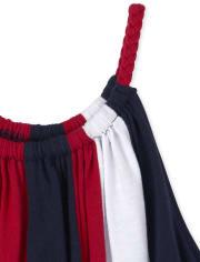 Girls Americana Striped Dress