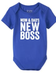 Baby Boys Mom And Dad Graphic Bodysuit