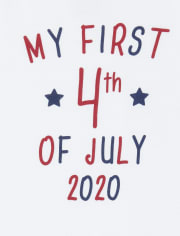 Unisex Baby Americana First 4th Of July 2020 Graphic Bodysuit