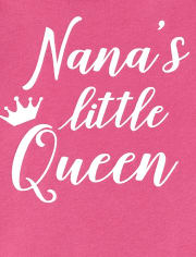 Baby Girls Glitter Nana's Queen Graphic Bodysuit