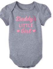 Baby Girls Glitter Daddy's Girl Graphic Bodysuit