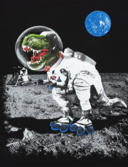 Boys Space Dino Graphic Tee