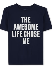Boys Awesome Life Graphic Tee