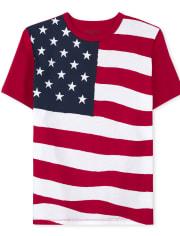 Boys Americana Flag Graphic Tee